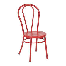 Red Metal Chair Fully Assembled Dining Chair Bellacor