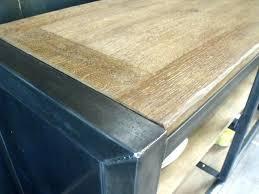 meuble cuisine acier table acier bois industriel meuble cuisine acier meuble cuisine bois