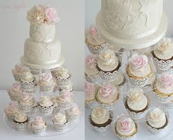 wedding cake cupcakes inspirations wedding cake cupcakes with lace wedding cake