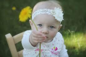 baby hair accessories baptism headbands white or ivory newborn headbands baby hair