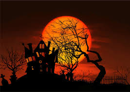 clipart haunted house moonlight silhouette