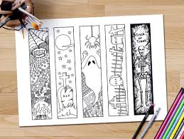 halloween seek and find printables halloween bookmarks coloring page halloween coloring