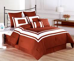 8 piece lux decor burnt orange comforter set