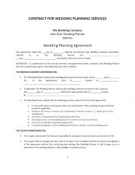 wedding planner contracts simple contract agreement between two 13 loan party