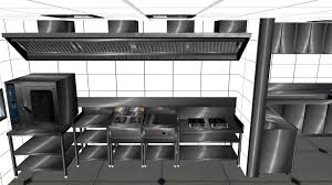 Commercial Restaurant Kitchen Design Commercial Kitchen Design In 3ds Max Youtube