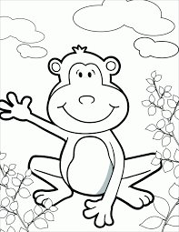 printable monkey coloring pages printable monkey template coloring home