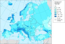 North America Precipitation Map by Average Annual Precipitation In Europe 550 550 Mapporn