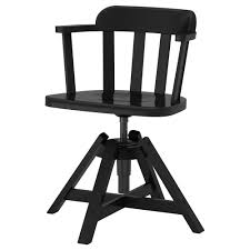 feodor swivel chair with armrests black ikea