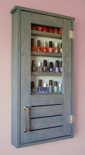 ana white nail polish cabinet diy projects bathroom
