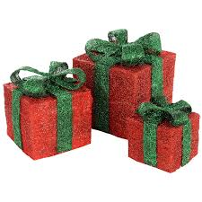 pre lit christmas gift boxes werchristmas pre lit sisal gift boxes with led lights christmas