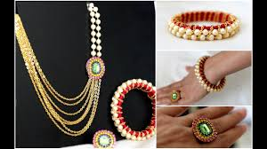 diy necklace set images How to make party wear necklace set diy necklace diy bridal jpg