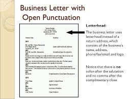 ideas of full block letter style open punctuation also layout