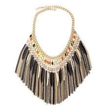 crystal collar statement necklace images Fringe statement necklaces chain collar necklaces with crystal jpg
