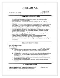 Teacher Job Resume Sample by Sweet Looking Psychologist Resume 16 Examples Of Resumes 6 Job
