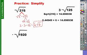square root of 289 11 4 how to find simplest radical form youtube