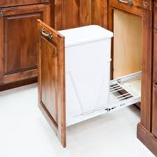 kitchen cabinet door mounting hardware 35 or 50 quart single pullout waste container system burroughs hardwoods store