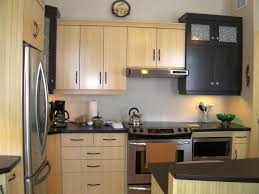 kitchen nice bamboo kitchen design with decorative flower and