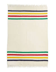 hudson bay s boots caribou throw multistripe hudson s bay