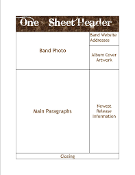 One Sheet Template How To Create And Use A Band One Sheet Christian Band Help