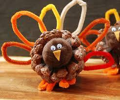 thanksgiving kid crafts pine cone turkeys home seasons