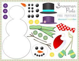 snowman printable face images