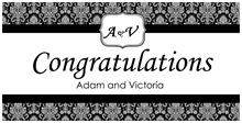 congratulations wedding banner wedding banners just married banners easybanners