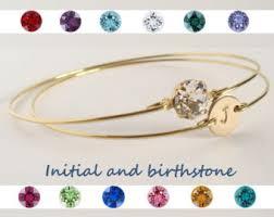 custom birthstone bracelets birthstone bangle etsy