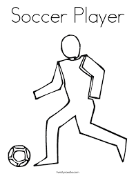 soccer player coloring twisty noodle