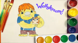 wallykazam ogre doug draw and colour coloring pages for kids