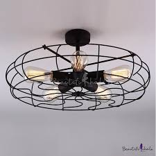industrial flush mount ceiling lights incredible novelty loft industry wrought iron fan close to ceiling