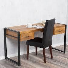 Schreibtisch Design Schreibtisch Durar Mango Rough Massiv Industrial Design 150cm