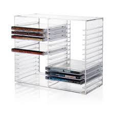 acrylic cd dvd display rack shelf stand holder plexiglass cd dvd