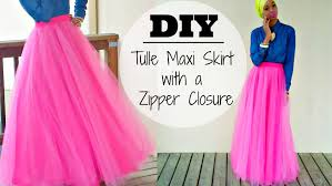 how to make tulle skirt nadira037 diy tulle maxi skirt with a zipper