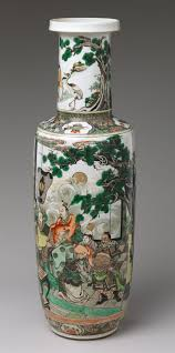 Chinese Vases History Vase With Immortals Offering The Peaches Of Longevity Work Of
