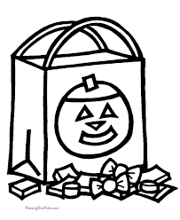 preschool halloween coloring pages