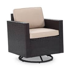 Patio Club Chair Coral Coast Berea Wicker Outdoor Wicker Swivel Chair With Cushions