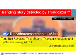 taco bell revealed their thanksgiving menu and is
