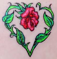 34 best heart rose tattoo images on pinterest black and white