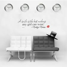 Home Decor Stickers Wall Fahsion Home Decal Wall Stickers Wallpaper A Smile Is The Best