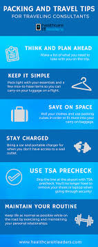 Packing and travel tips for traveling consultants infographic