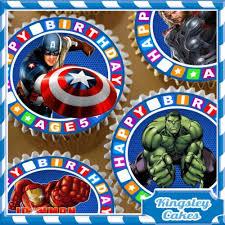 edible icing sheet 24 x mixed avengers 5th birthday cupcake