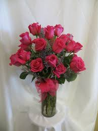 hot pink roses beautiful two dozen pink roses same day delivery in houston