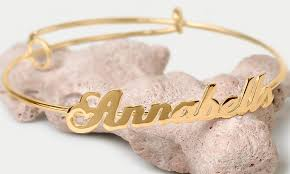 personalized bangle bracelet up to 90 on personalized name bangle groupon goods