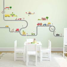 amazon com decowall da 1404 the road cars peel and stick amazon com decowall da 1404 the road cars peel and stick nursery kids wall decals stickers large home kitchen