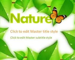 Nature Ppt Template Free Powerpoint Templates Free Power Point