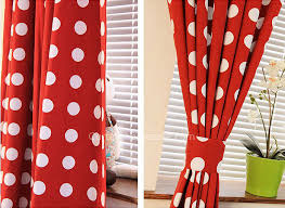 red and white bedroom curtains bedroom or living room cotton red and white polka dot curtains