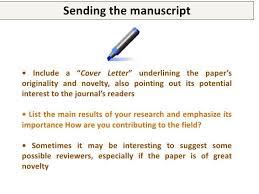 publication cover letter cover letter scientific publication