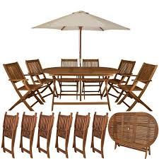 chaises pliables ensemble table et 6 chaises pliables de jardin tout en bois