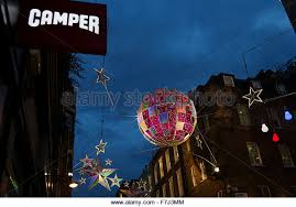 Christmas Decorations Shops London by Christmas Decorations Hanging In Shop Stock Photos U0026 Christmas