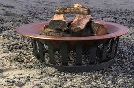 40 fire pit fire pits wood burning solid 100 copper bowl 40 in patio deck